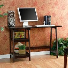 Small Espresso Desk Winslow White Modern Floating Desk Espresso Desks And Small Spaces