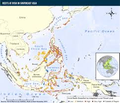 Southeast United States Map by Reefs At Risk In Southeast Asia World Resources Institute