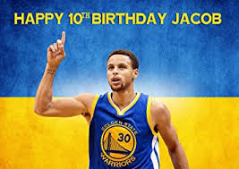 stephen curry golden state warriors nba birthday cake personalized