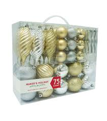 gold silver ornament set 75 count joann
