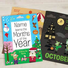 months of the year personalised book childrens books books