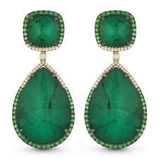 emerald drop large emerald drop earrings freedman jewelers boston freedman