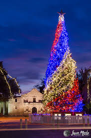 san antonio tree lighting 2017 christmas tree at the alamo at dawn san antonio texas places