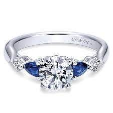 sapphire accent engagement rings gemstone accent engagement rings freedman jewelers freedman