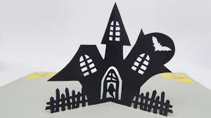 pop up halloween decorations how to make a pop up card haunted house halloween invitation card