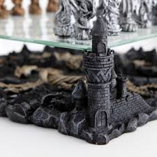 amazoncom dragon chess set toys games 15 3d pewter dragon chess