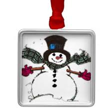 unique snowman tree ornaments