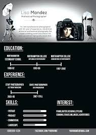 photography resume template photographer resume template creative templates freelance