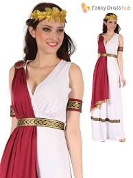 Roman Goddess Halloween Costume Mens Ladies Roman God Goddess Toga Caesar Venus Fancy Dress