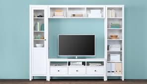 White Living Room Glass Cabinets Hemnes Livingroom Ikea