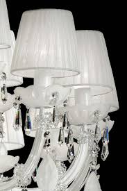 White Murano Chandelier by 60 Light Bohemian Crystal Chandelier Masiero Murano And