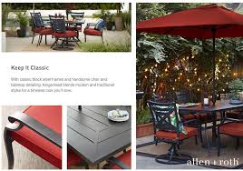 Roth Allen Patio Furniture by Shop The Kingsmead Patio Collection On Lowes Com