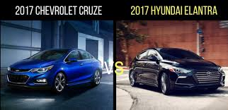 hyundai elantra vs to 2017 chevrolet cruze vs 2017 hyundai elantra