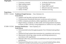 Sample Resume For Truck Driver by Driver Supervisor Resume Reentrycorps