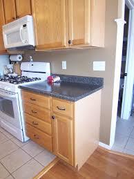 fine kitchen color schemes with dark oak cabinets ideas and black