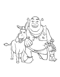unique comics animation top shrek coloring pages 02