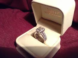 wedding ring in a box matching jared 3 4carat diamond 14k white gold engagement ring