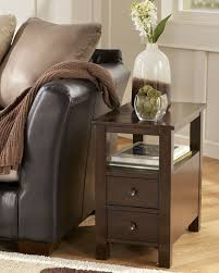 Chair Side Tables With Storage Furniture Marion Brown Chair Side Table The Home