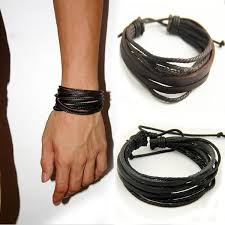 bracelet fashion men images Leisure fashion men 39 s hand woven leather bracelet multilayer jpg