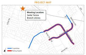 san jose library map san josé great oaks boulevard and san ignacio avenue complete