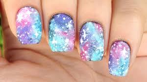 nail art tutorial easy pastel galaxy print perfect for beginners