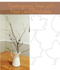gratitude tree with free leaf printable thankful tree