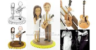 guitar cake topper musicians wedding cake toppers musician and groom cake toppers