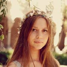 hippie hair accessories bridal floral crown wedding hair wreath by michele at