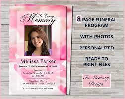 memorial template etsy