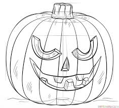how to draw a jack o u0027 lantern step by step drawing tutorials