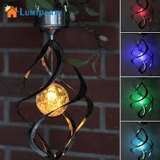 solar powered wind chime light lumiparty solar powered lights wind spinner led l outdoor hanging