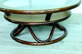 lazy susan coffee table lazy susan coffee table vintage rattan glass lazy coffee table