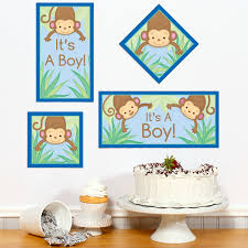 baby shower monkey monkey boy baby shower diy party sign cutout