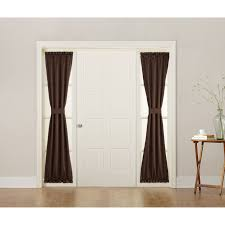 Sidelight Panel Curtain Rod by Sun Zero Galia Energy Efficient Sidelight Curtain Panel Taupe