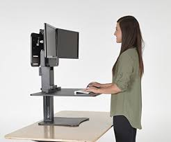 victor dc350 high rise collection dual monitor sit stand standing