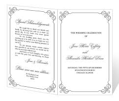 Wedding Bulletin Templates Free Wedding Program Templates Masterforumorg 21gowedding Com