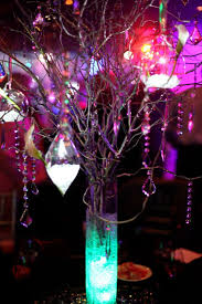 Diy Branches Centerpieces by Tall Thinned Out Branches Glitter Painted In Wedding Colors With