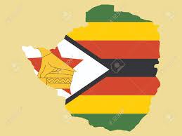 Zimbabwe Map Map Of Zimbabwe And Zimbabwean Flag Illustration Royalty Free