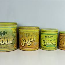 vintage kitchen canister sensational ideas yellow kitchen canister set sets for and gold