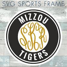 Mizzou Home Decor Mizzou Tigers Missouri Monogram Frame Cutting Files In Svg Eps