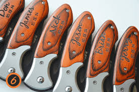 wedding gift groomsmen set of 6 personalized knives engraved knives wedding favors
