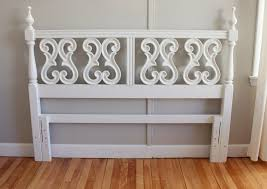 white wood headboard queen blue lamb furnishings white intricate