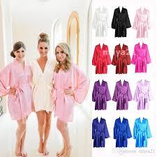 bridesmaid satin robes sleeves cheap bridesmaid and robes silk bathrobe