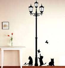 home decor free shipping free shipping popular ancient l cats and birds wall sticker wall