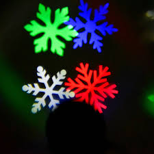 outdoor light laser snowflake projector rgb color led
