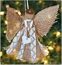 burlap angel christmas ornament burlap ornament and angel