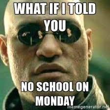 No School Meme - giberson elementary school home facebook