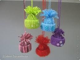 creative ideas diy yarn winter hat ornaments