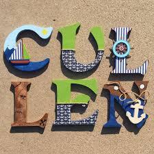 nautical wooden letters nautical nursery decor nautical