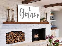 gather sign gift for her wall art rustic home decor shiplap